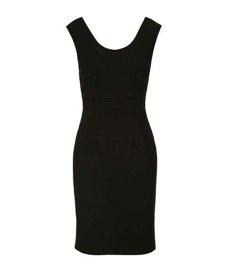 Black Bow-Back Dress, Black, hi-res