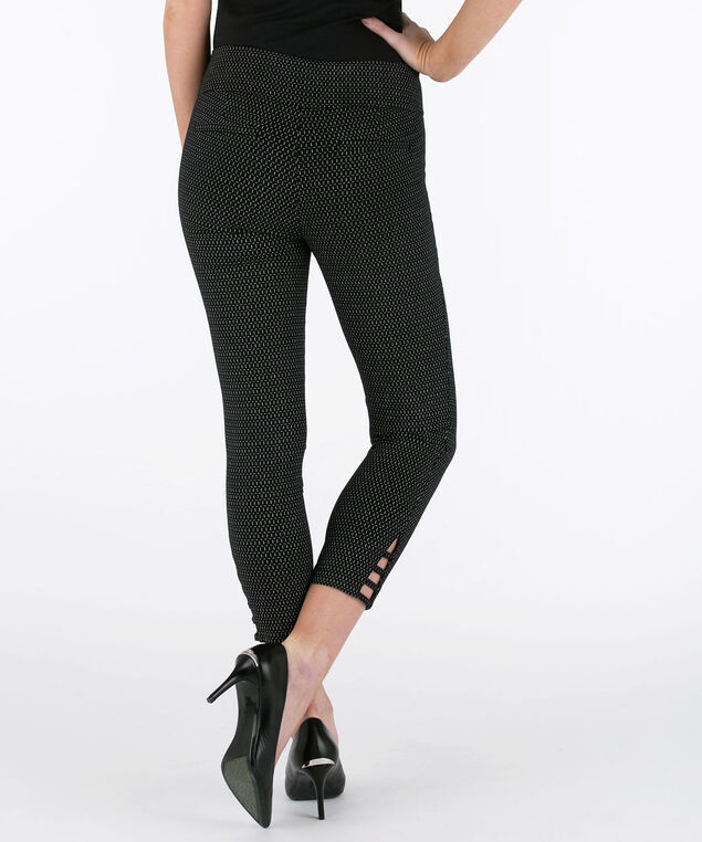 Ladder-Trim Microtwill Crop Pant, Black/Grey, hi-res