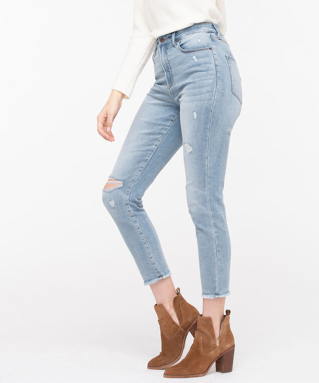 High Rise Skinny Ankle Jean, Light Wash, hi-res