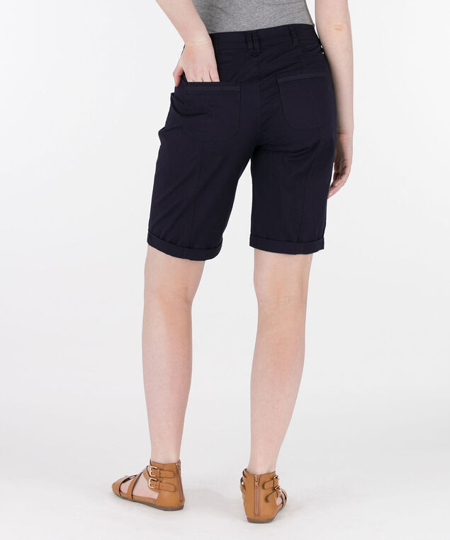 Poplin Roll Cuff Bermuda Short, Summer Navy, hi-res