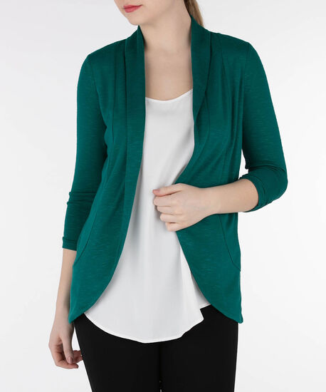 Shawl Collar Cardigan, Emerald, hi-res