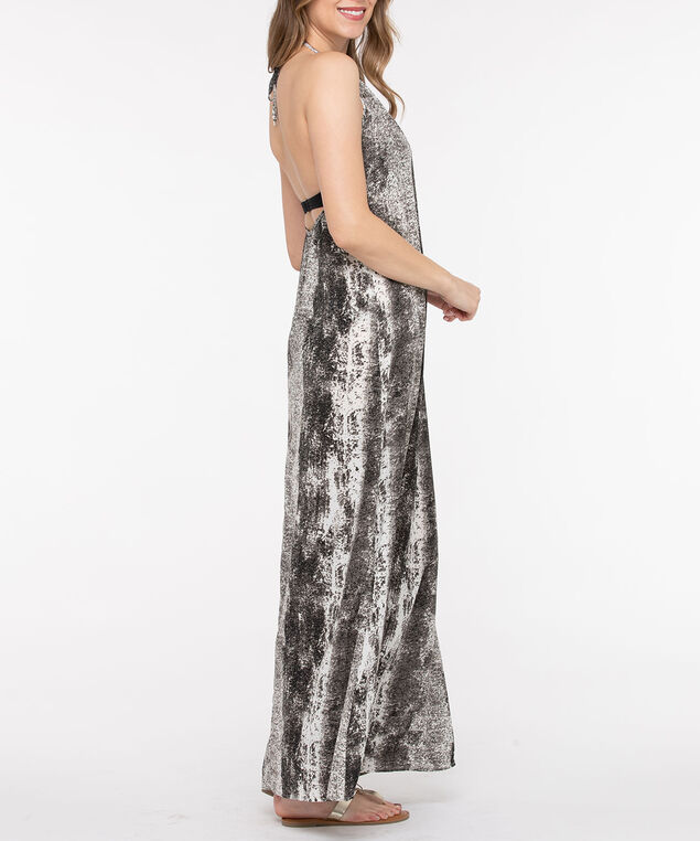 Python Cover Up Maxi Dress, Charcoal/Pearl, hi-res