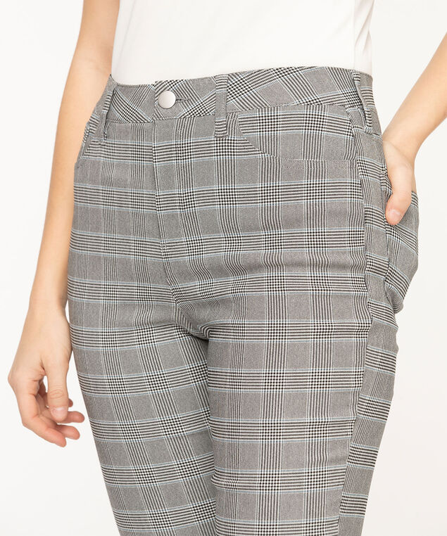 Microtwill 5-Pocket Skinny Leg, Grey Plaid