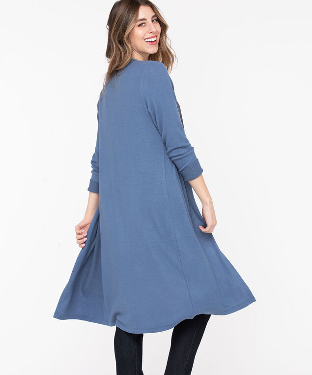 Open Front Duster Cardigan, Bijou Blue, hi-res