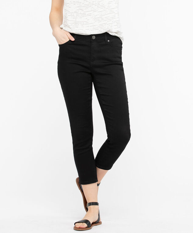 Fly Front Jegging Crop, Black, hi-res