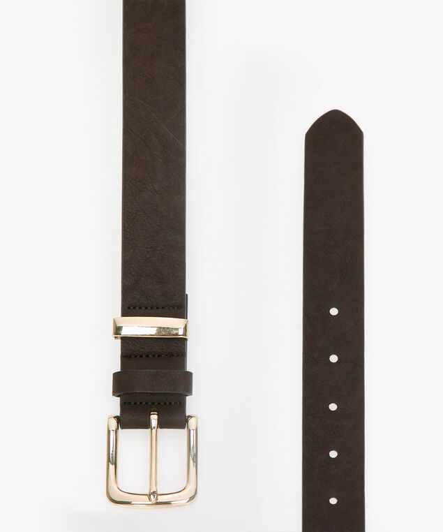 Essential Pant Belt, Brown, hi-res