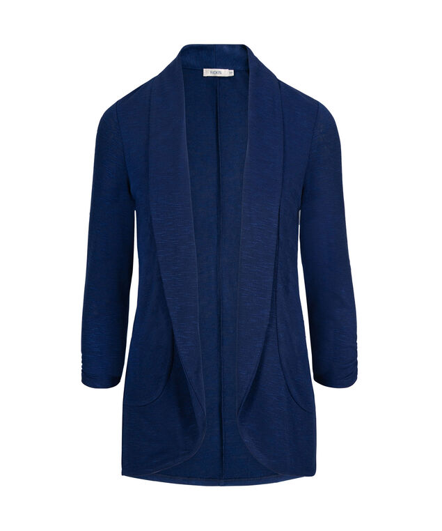 Shawl Collar Cardigan, Cobalt, hi-res