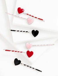 Twisted Heart Bobby Pin 6-Pack