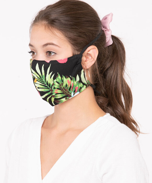 2 Pack of Face Masks, Black/Green/Strawberry/White/Light Blue/, hi-res