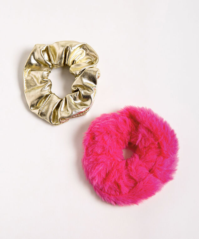 Reindeer Scrunchie Set, Bright Pink/Gold, hi-res