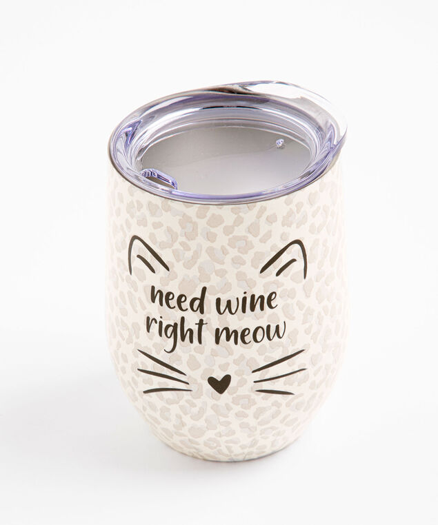 Cat Insulated Wine Tumbler, Meow
