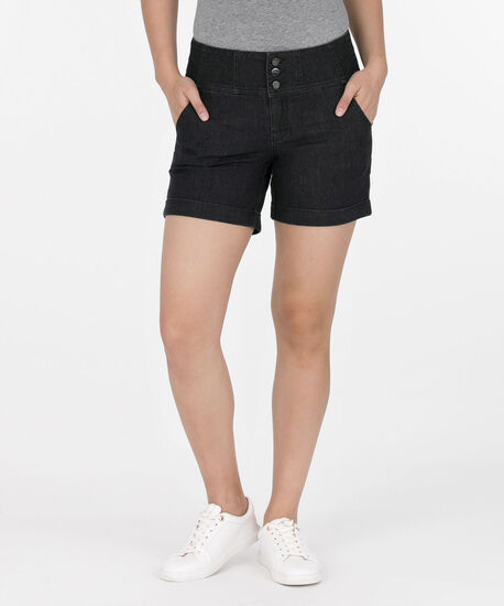 Roll Cuff City Denim Short, Dark Blue, hi-res