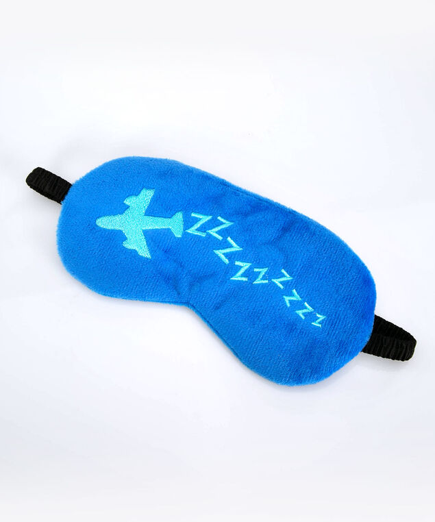 ZZZZ Sleep Mask, Cerulean/Bright Aqua, hi-res