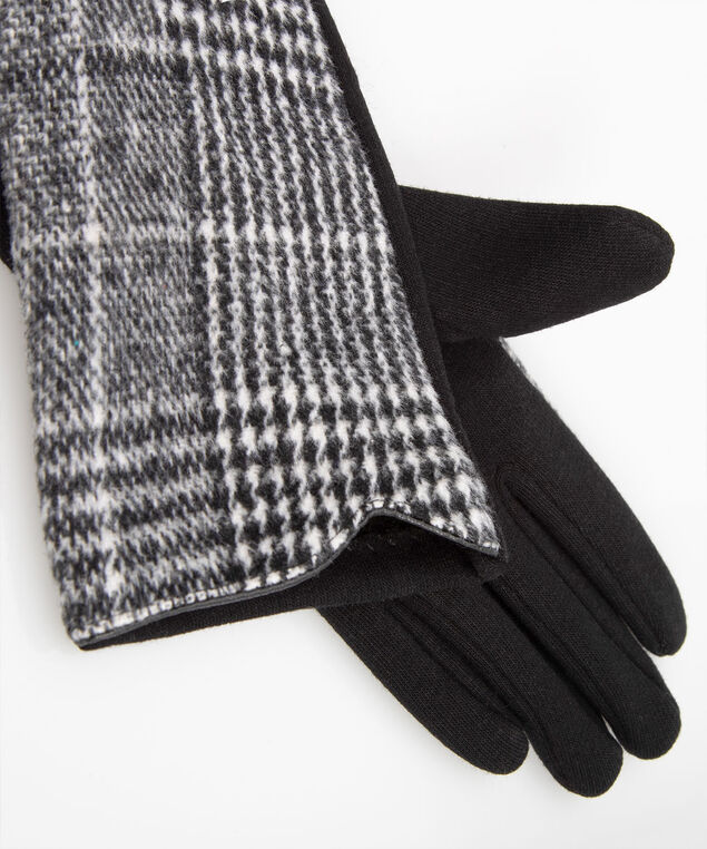 Glencheck Gloves, Grey/Black, hi-res