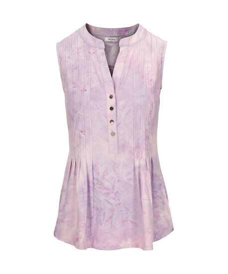 Sleeveless Pintuck Top, Iced Violet, hi-res