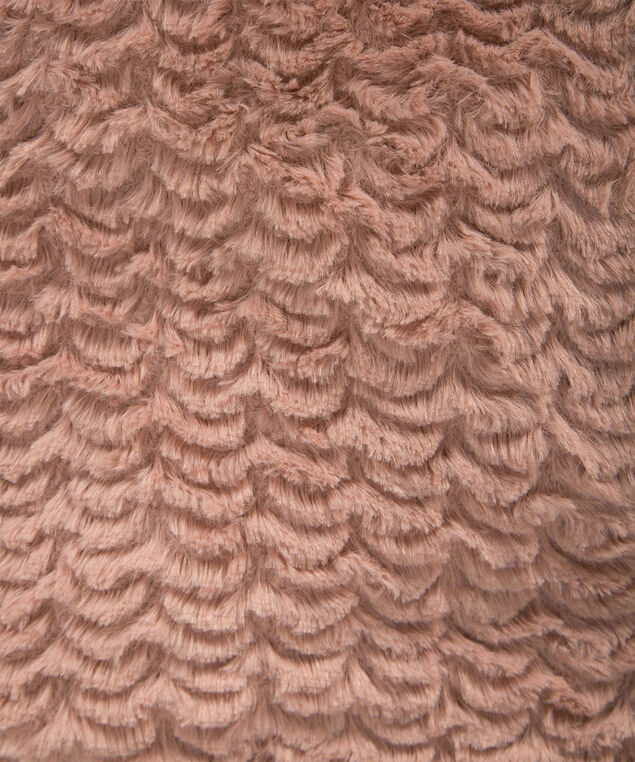 Faux Fur Plush Eternity Snood, Pink, hi-res