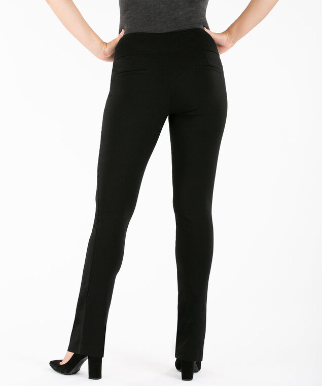 Microtwill Slim Straight Leg, Black, hi-res