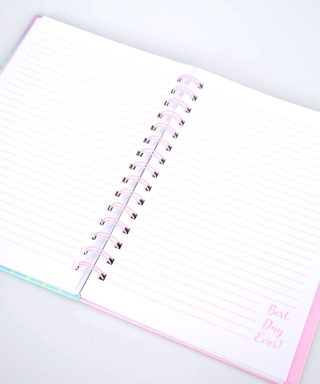 Best Day Ever Spiral Notebook, Cameo Pink/Yellow/Bright Aqua, hi-res