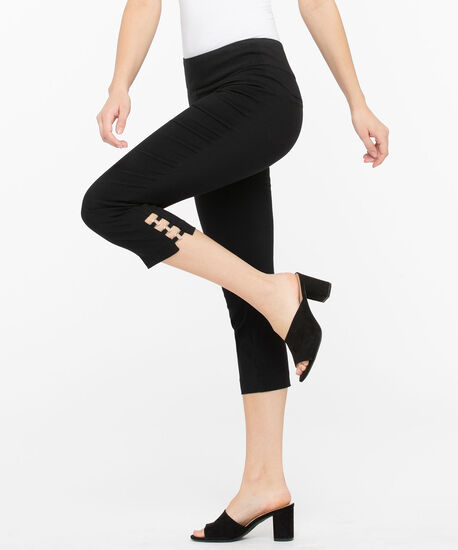 Microtwill Circle Ladder Trim Capri, Black, hi-res