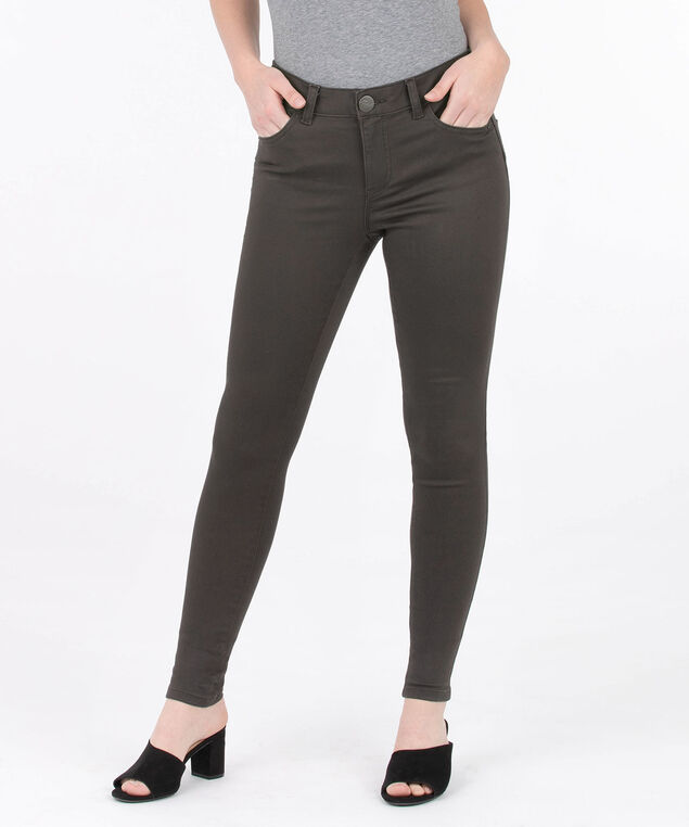 Fly Front Coloured Jegging, Espresso, hi-res