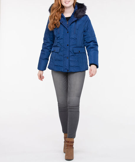 Northpeak Hooded Down Jacket, Cobalt Blue, hi-res
