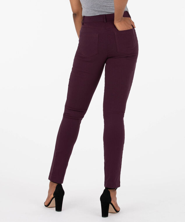 Microtwill Fly Front Slim Leg, Plum, hi-res