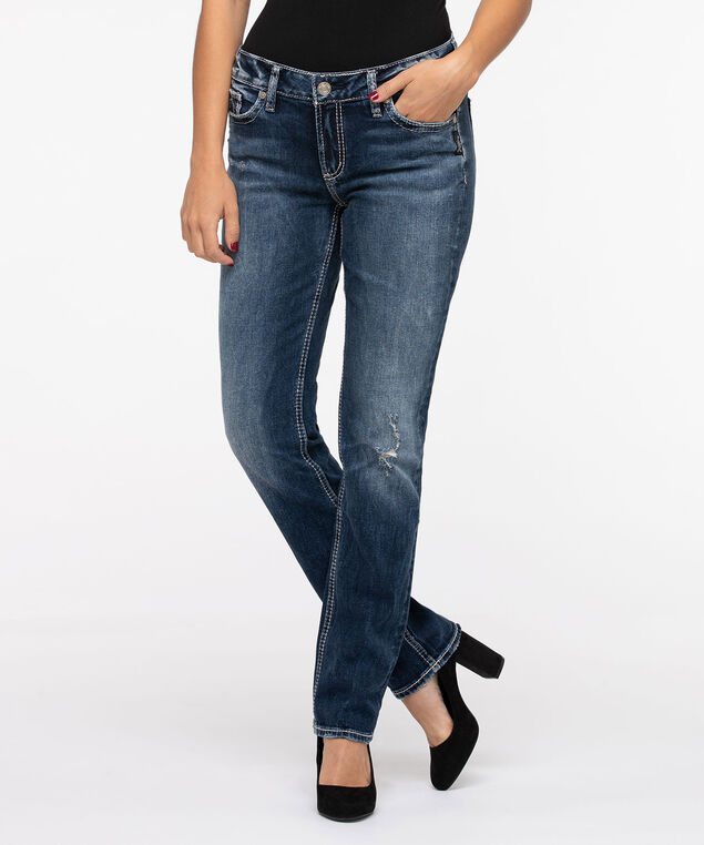 Silver Jeans Co. Elyse Straight Leg, Medium Wash, hi-res