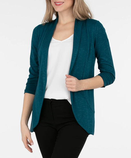 Shawl Collar Cardigan, Midnight Teal, hi-res