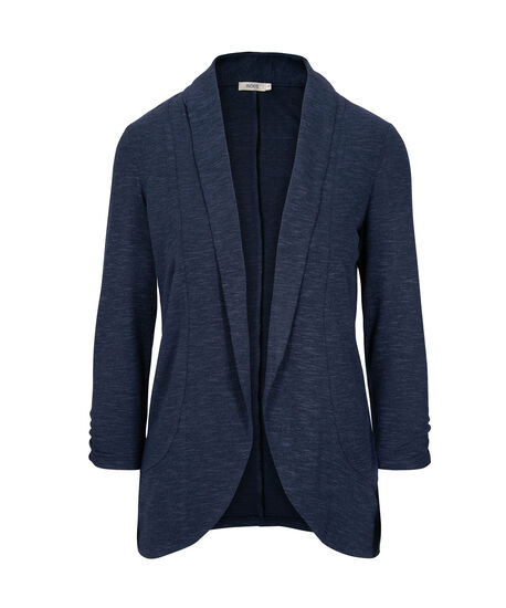 Shawl Collar Cardigan, Ink Blue, hi-res