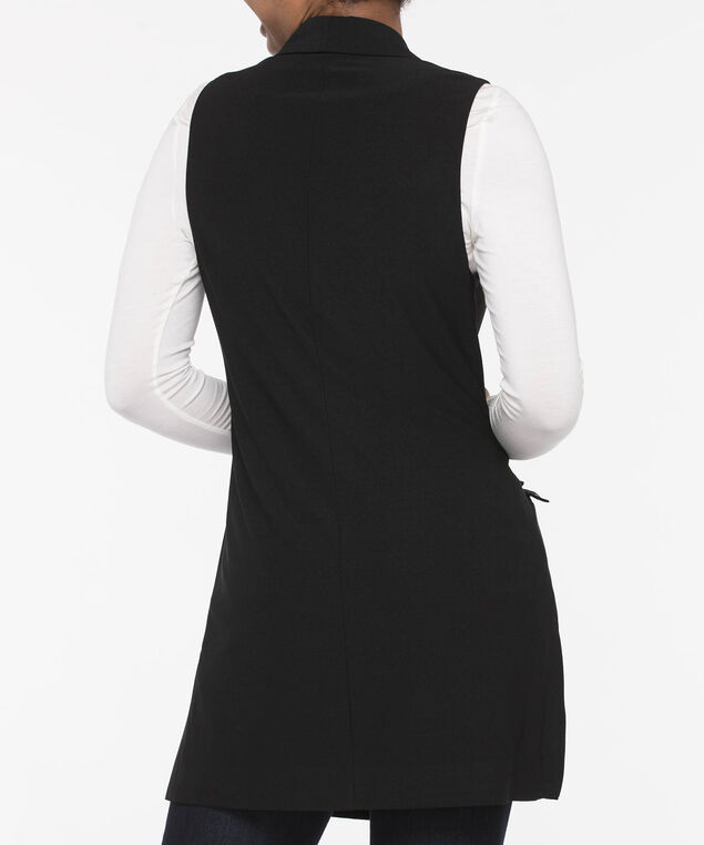 Easy Stretch Longline Vest, Black, hi-res