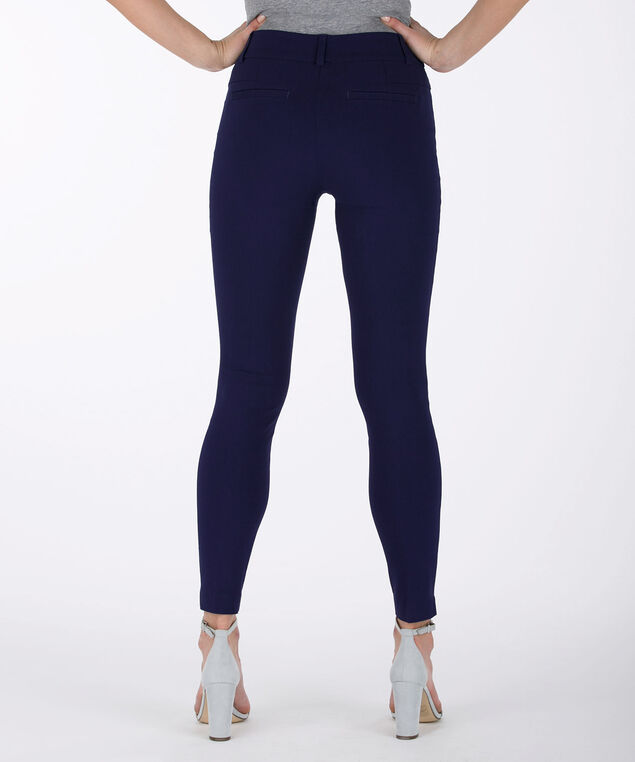 Microtwill Fly-Front Ankle Pant, Deep Sapphire, hi-res