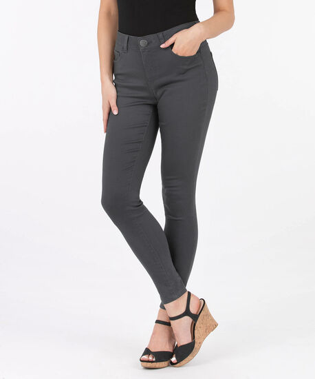 Fly Front Coloured Jegging, Pewter, hi-res