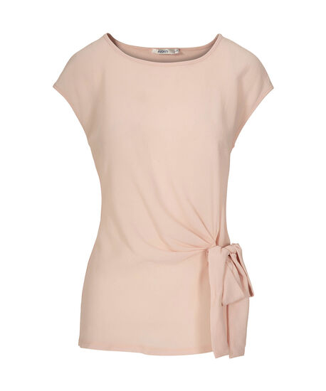 Extended Sleeve Side-Tie Top, Pastel Pink, hi-res