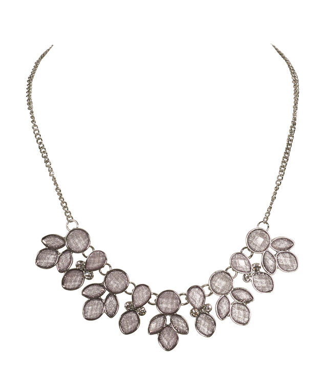 Iced Violet Cateye Statement Necklace, Iced Violet/Rhodium, hi-res