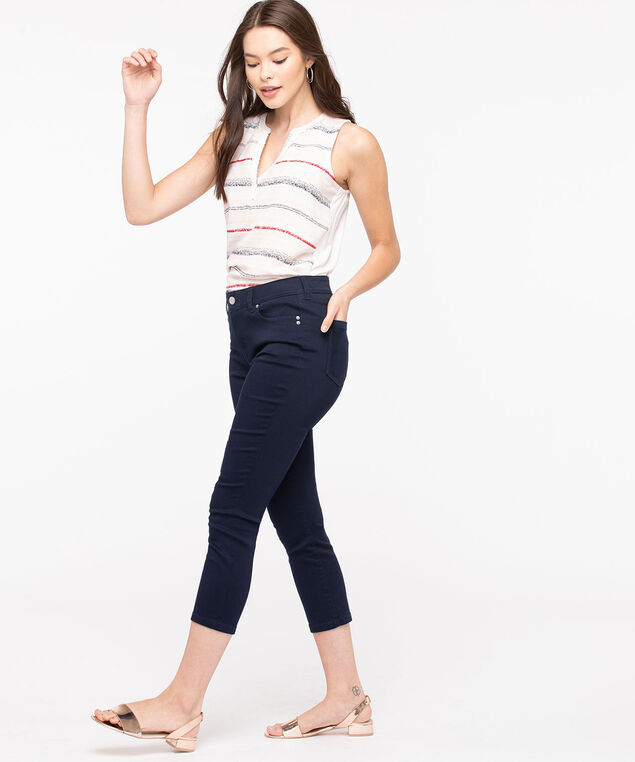 Fly Front Jegging Crop, Summer Navy, hi-res