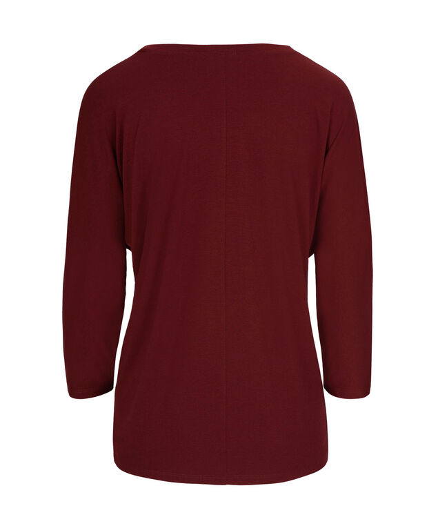 Dolman Sleeve Top, Ruby Red, hi-res
