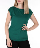 Boatneck Extended Sleeve Top, Emerald, hi-res