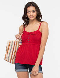 Strappy Smocked Back Top