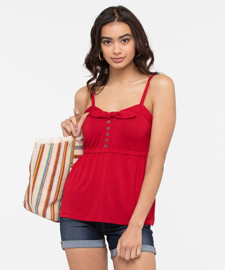 Strappy Smocked Back Top, Hibiscus, hi-res