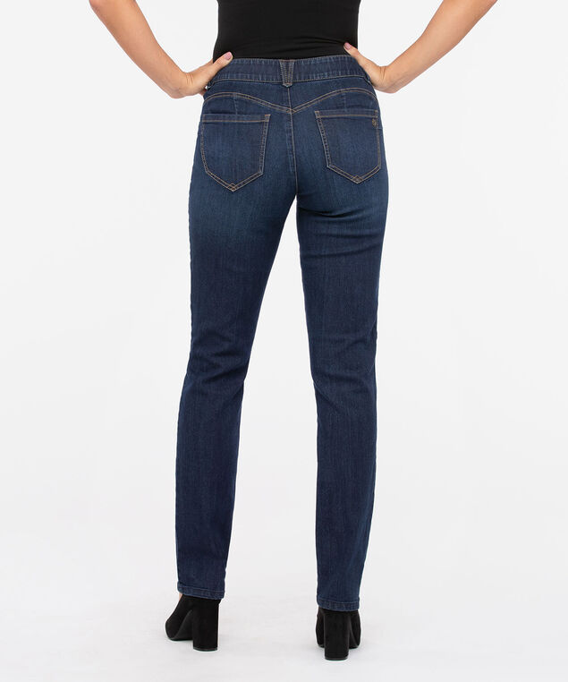 "Democracy ""AB""solution Straight Leg Jean - Long, Dark Blue, hi-res"