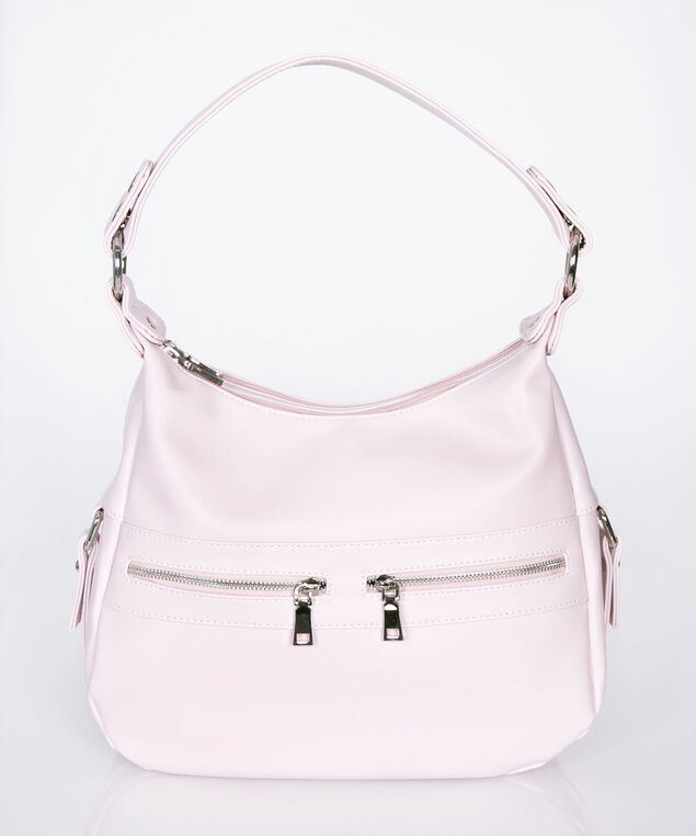 Pink Multi Compartment Handbag, Pastel Pink, hi-res