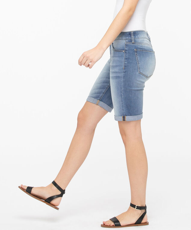 Light Wash Denim Bermuda Short, Light Wash, hi-res
