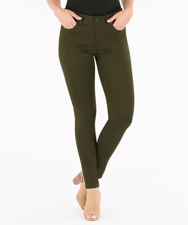 Fly Front Jegging, Olive, hi-res