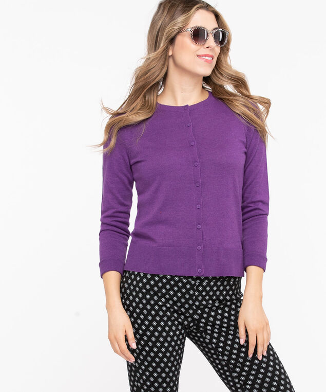 The Everyday Cardi, Purple, hi-res
