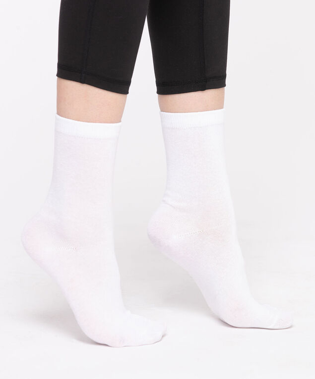 Basic Crew Socks, White