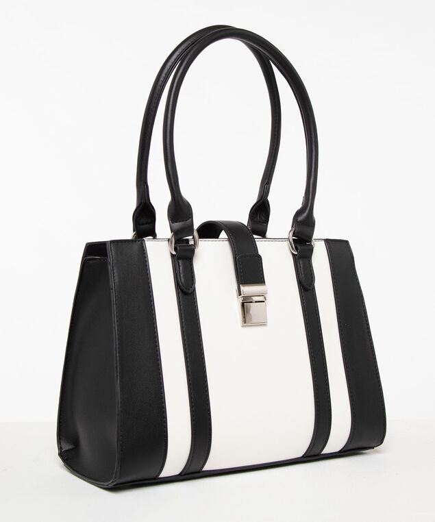 Colourblock East West Handbag, Black/Pearl, hi-res