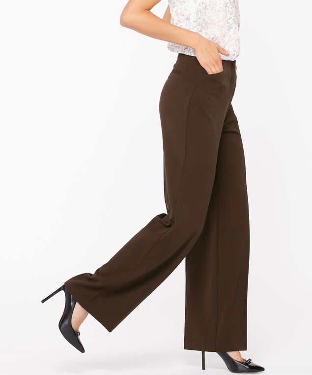 Tri-Blend Wide Leg Pant, Cold Brew, hi-res