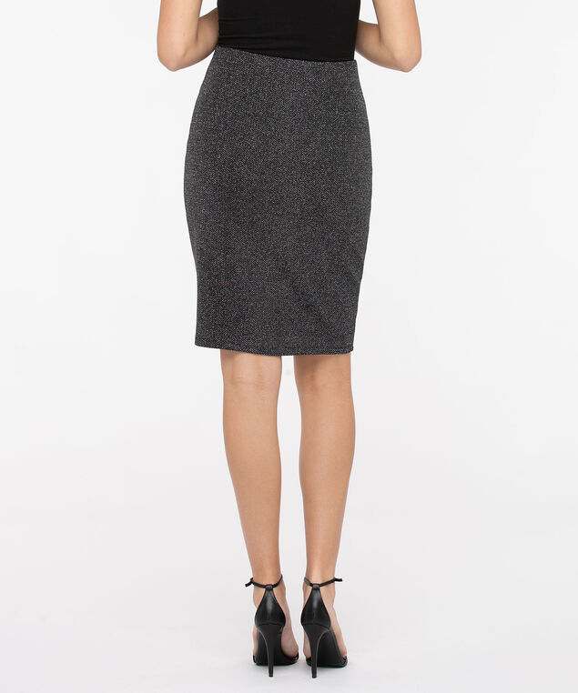 Pull On Sparkle Pencil Skirt, Silver Sparkle/Black, hi-res