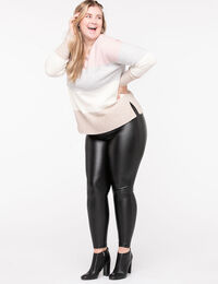 Faux Leather Ponte Legging
