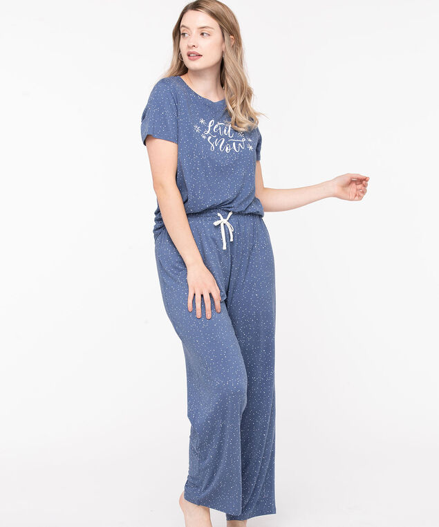 Let It Snow Pajama Set, Soft Blue/Pearl, hi-res